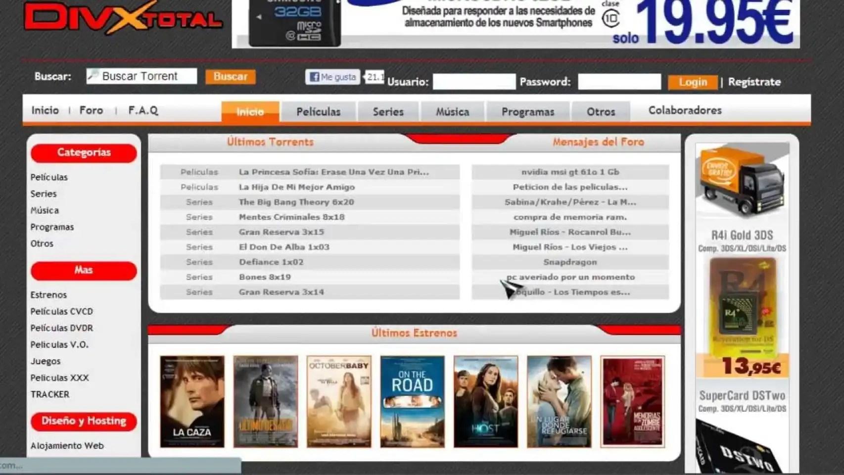 DivxTotal, Estrenos DTL O GamesTorrents: Bloqueadas 23