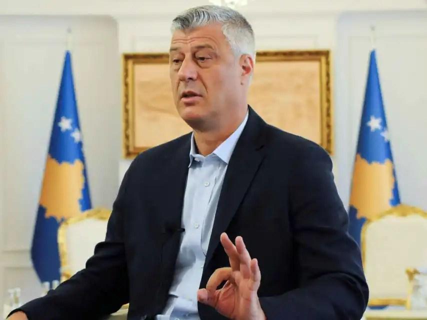 El presidente de Kosovo, Hashim Thaçi, apoya una corrección de la frontera
