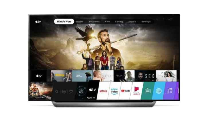 Televisor LG con Apple TV.