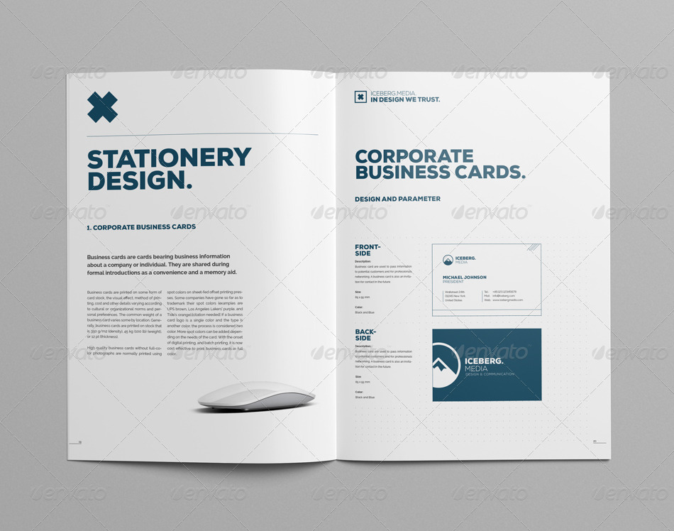 Elite Corporate Design Manual Guide 24 Pages By Egotype