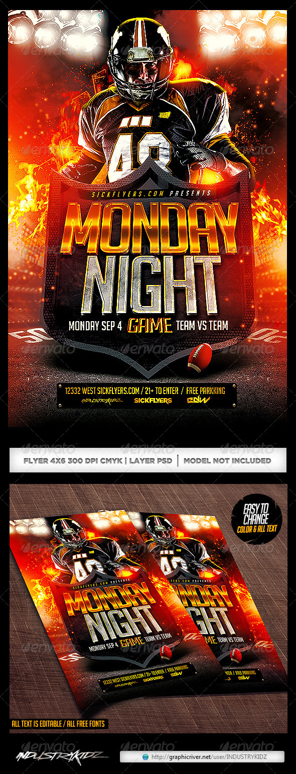 Video Game Flyer Template