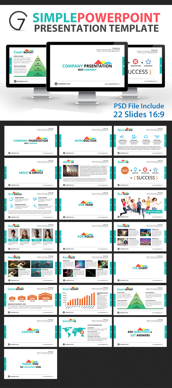Gstudio Simple Powerpoint Presentation Template Graphicstip