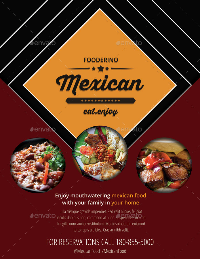 Mexican Restaurant Promotion Flyers By Totopc GraphicRiver