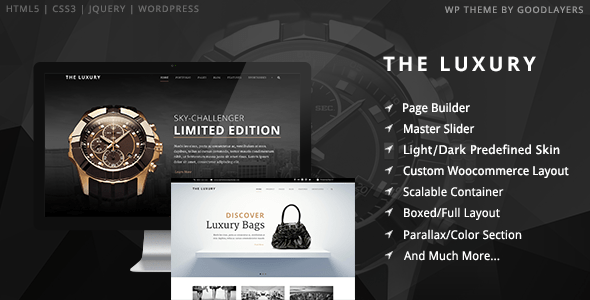 The Luxury DarkLight Responsive WordPress Theme By