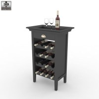 Black Wine Cabinet - Powell Furniture by humster3d | 3DOcean