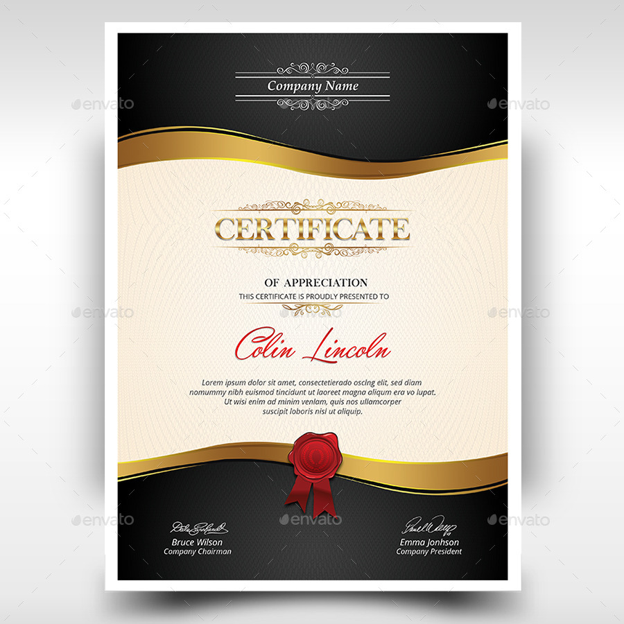Certificate By Themedevisers GraphicRiver