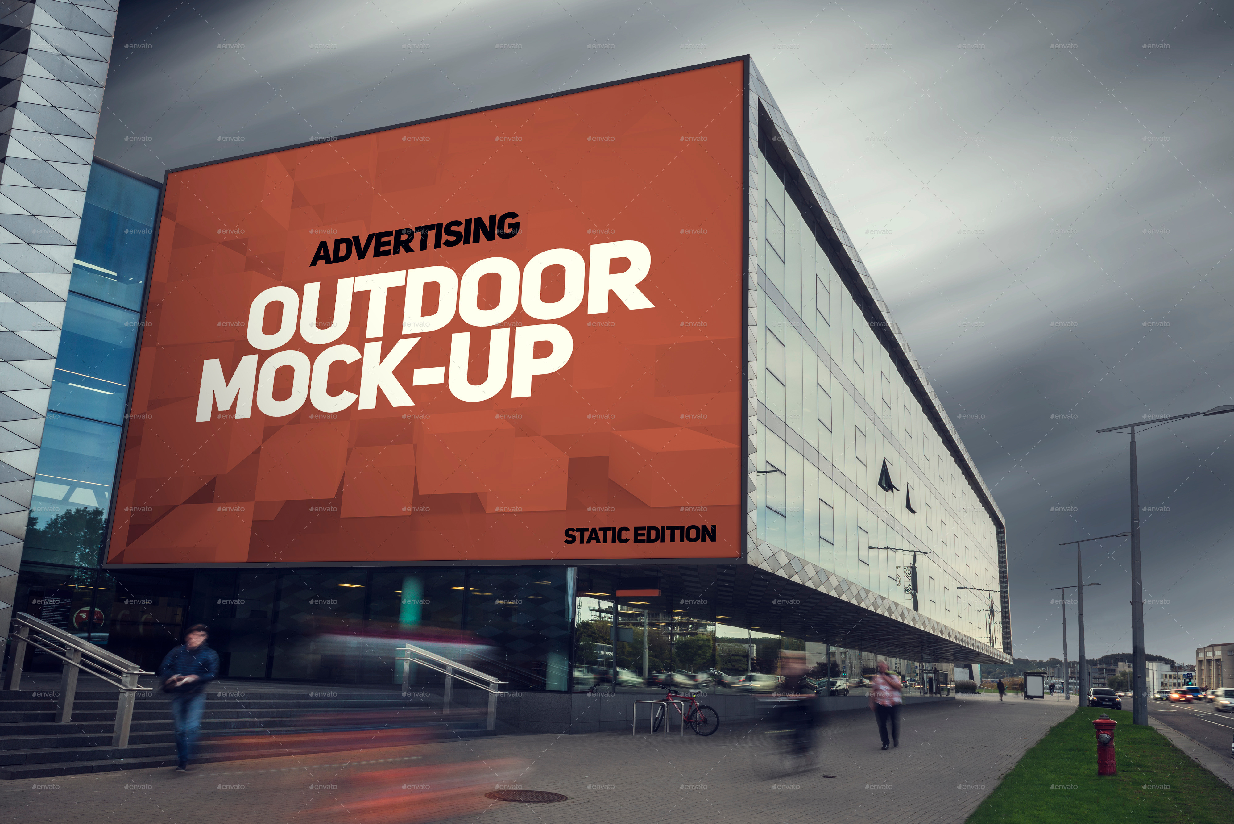animated outdoor advertising mock