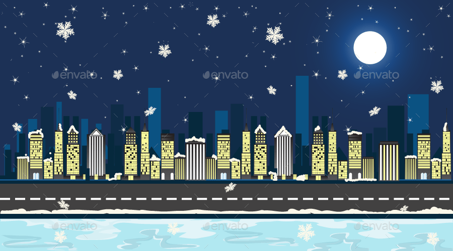 10 Vector Christmas Mobile Game Backgrounds By SNK