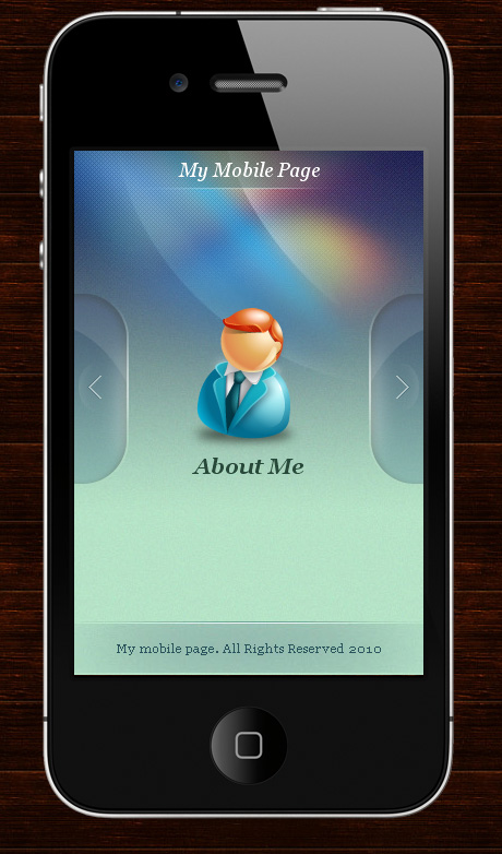 web template like mobile phone
