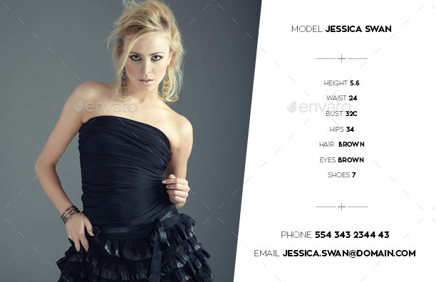 Model  Agency Comp Card by Kahuna_Design  GraphicRiver