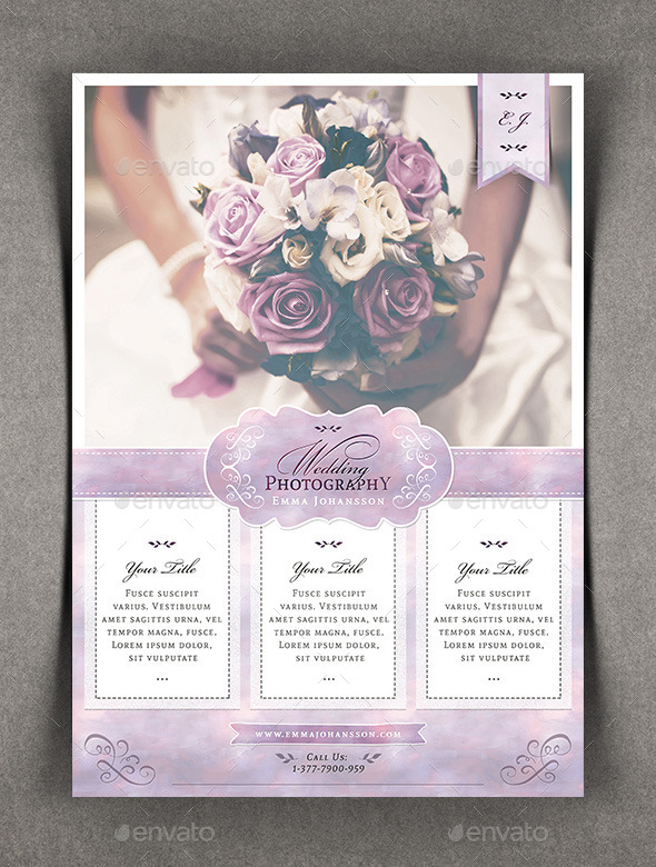 Watercolor Wedding Photography Flyer by Agape_Z  GraphicRiver