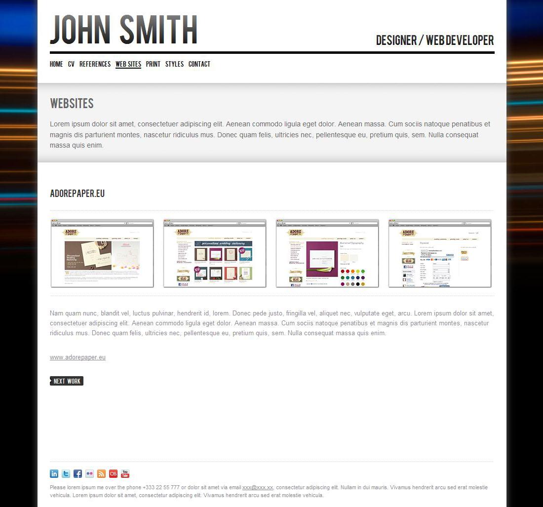 john smith cv template