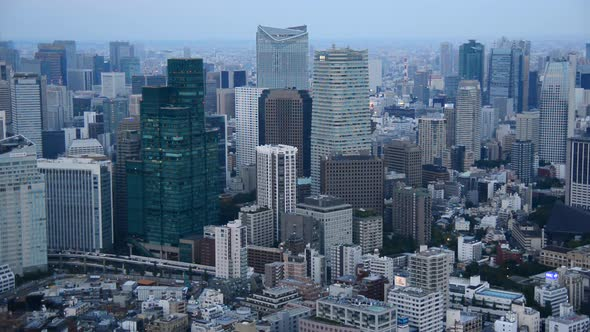 view of tokyo skyline