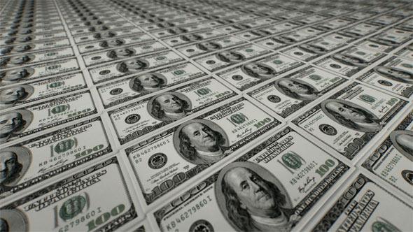 Falling Money 3d Wallpaper Camera Flying Over Stacked Money 100 Bill By Tempus