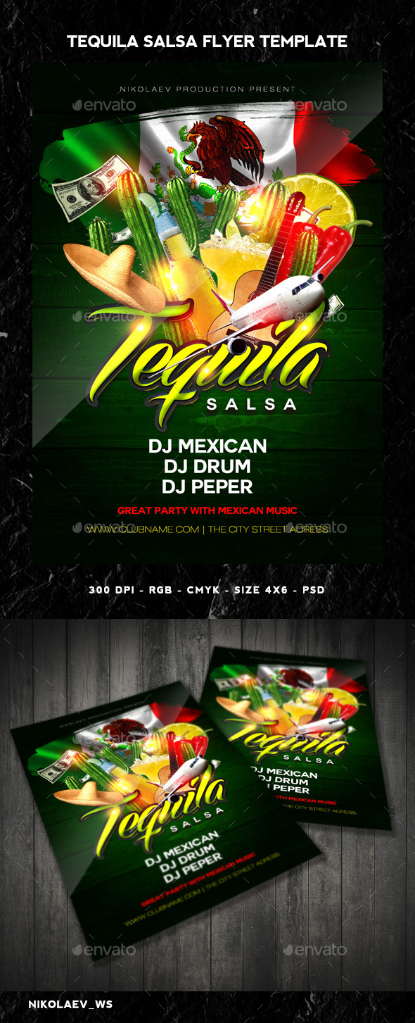 Tequila Party Flyer By MaksN GraphicRiver