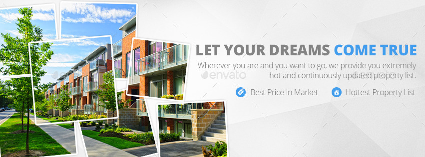 Real Estate Facebook Cover by zokamaric  GraphicRiver