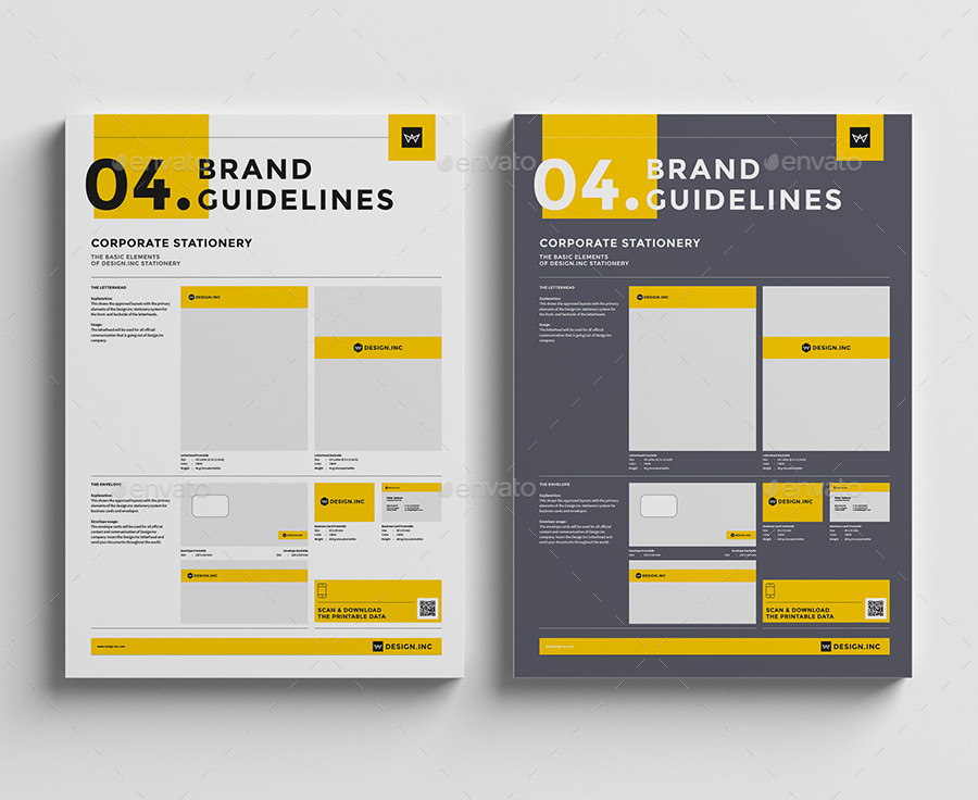 Brand Manual Template 4 Stationery By Egotype GraphicRiver