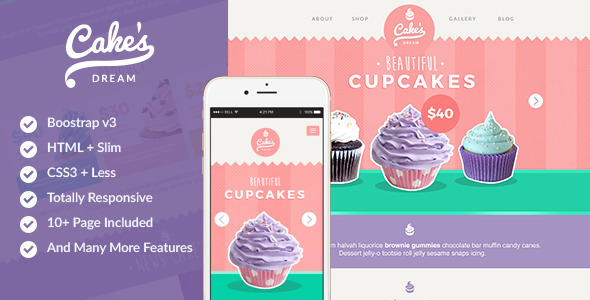 Cake Dream Responsive Cake Shop Template By Codeopus Themeforest