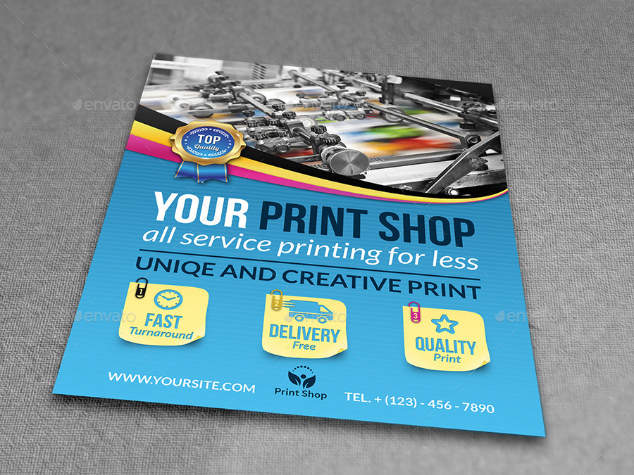 Print Shop Flyer Template by OWPictures  GraphicRiver