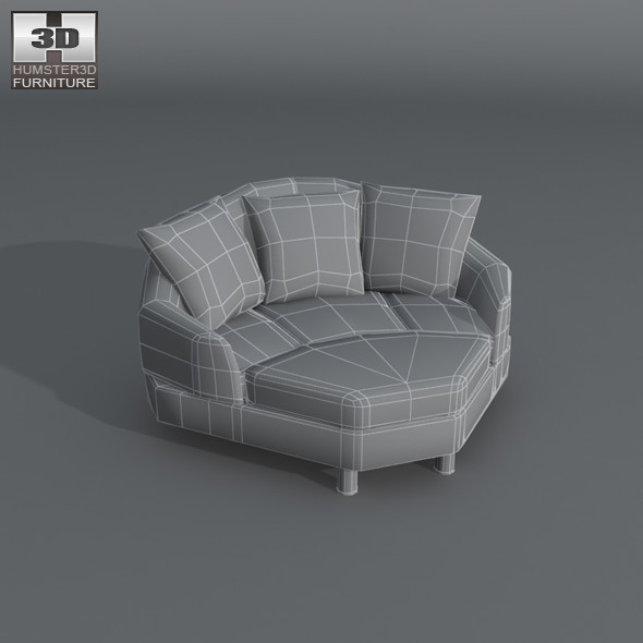 Stressless Sofa Space Space Corner Medium Sofa - Ekornes Stressless By Humster3d