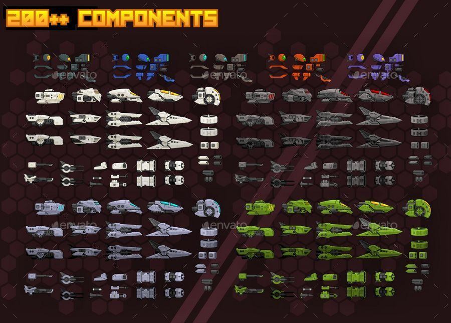 Space Shooter Kit Side Scrolling by pzUH  GraphicRiver
