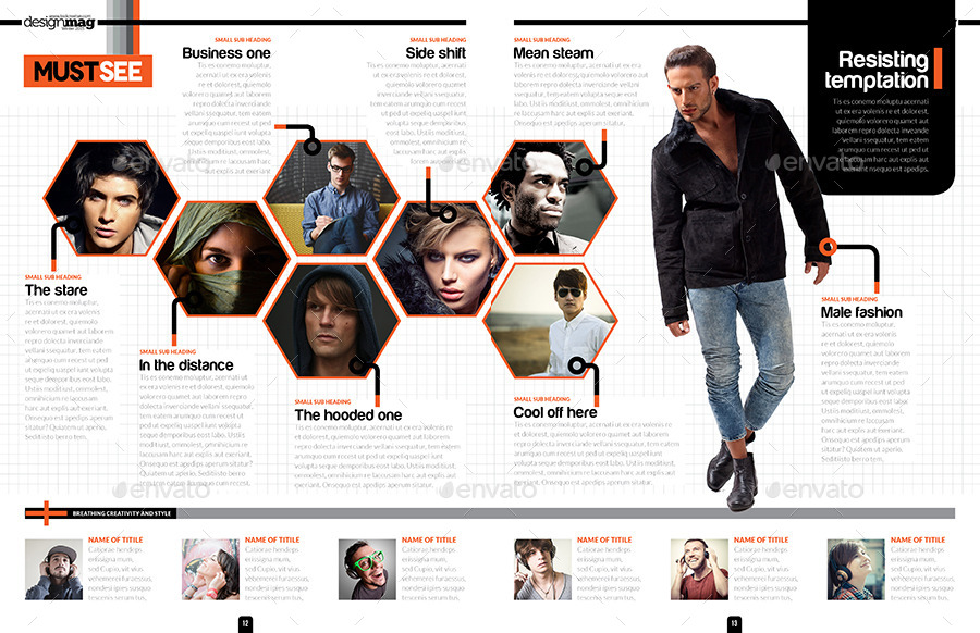 Magazine Template Bundle  InDesign Layout V3 by
