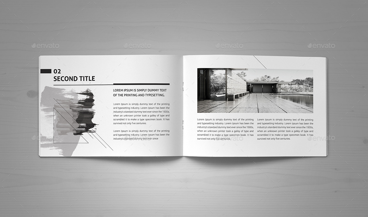 Minimal Modern Black  White Architecture Brochure by ProGh  GraphicRiver