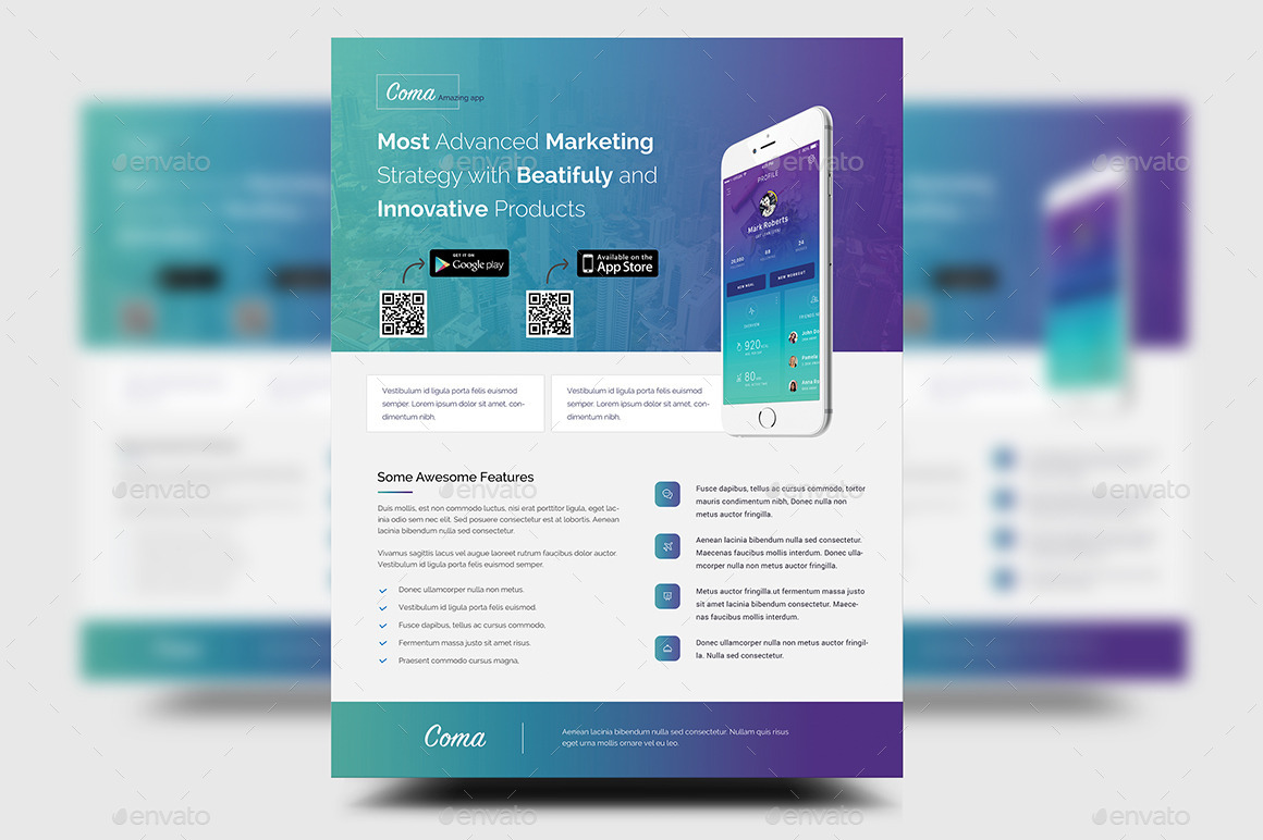 Mobile App Promotion Flyer Templates By Rtralrayhan