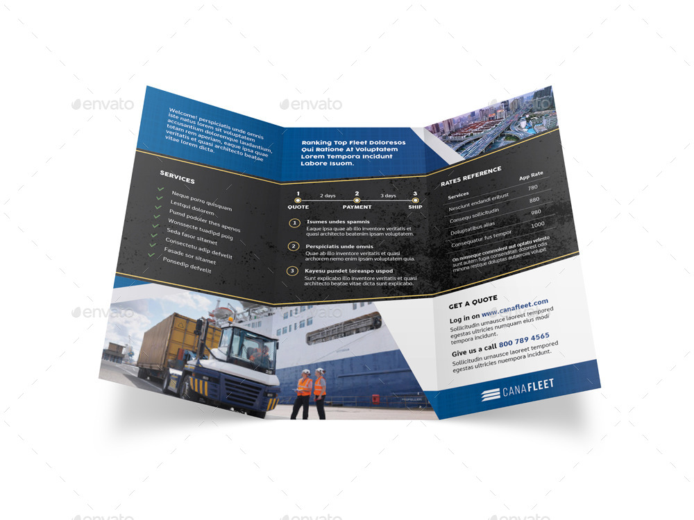 Transportation Company Trifold Brochure By Mike Pantone