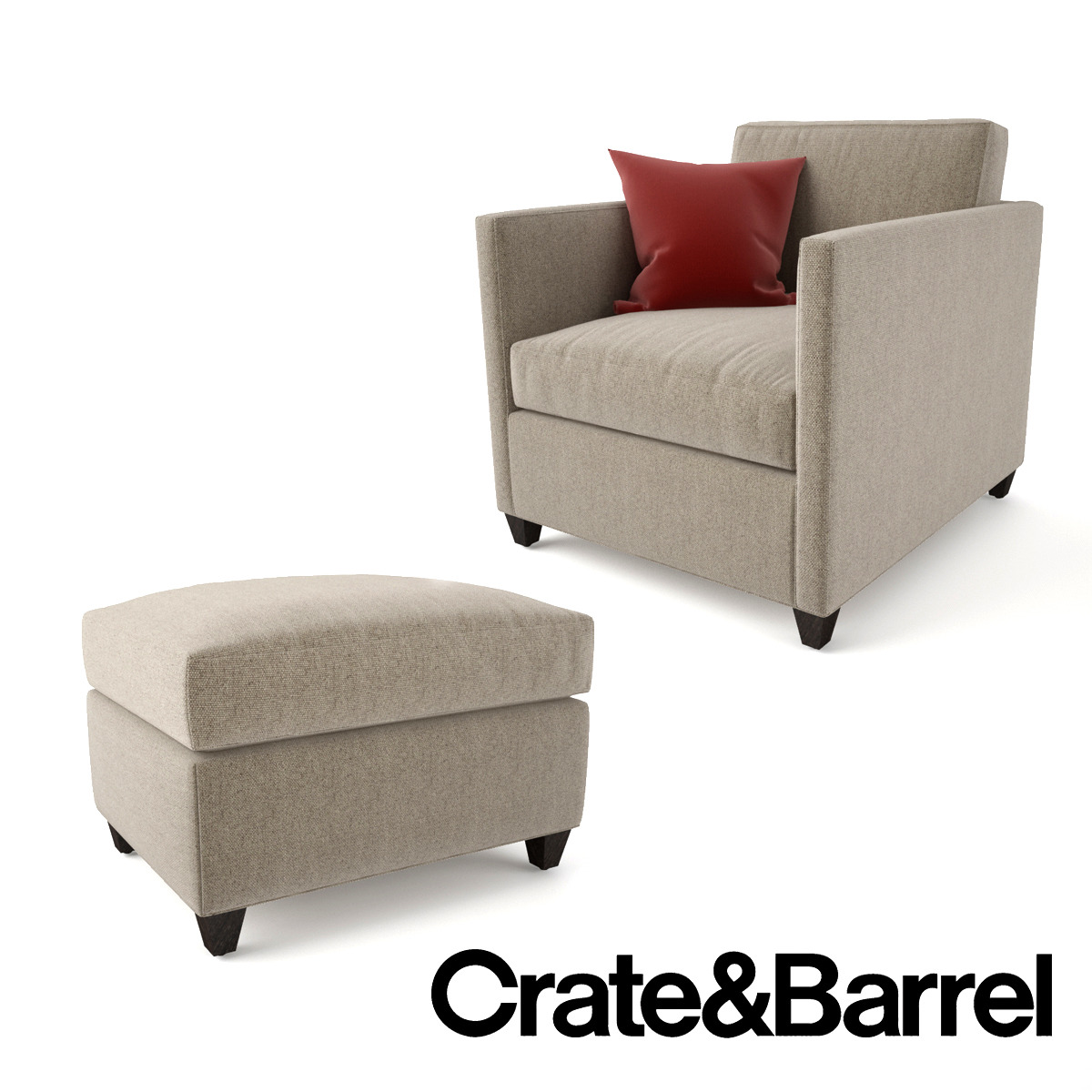 crate and barrel lounge chair swing outdoor bunnings dryden ottoman by emp otu 3docean