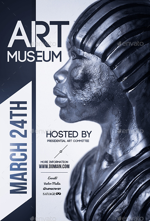 Art Museum  Flyer by VectorMedia  GraphicRiver