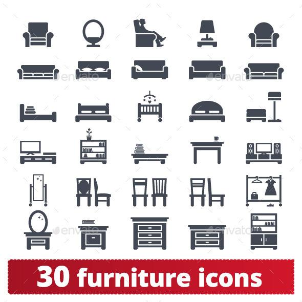 Furniture Icons By Nubenamo GraphicRiver