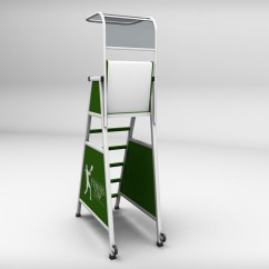 Tennis Umpire Chair Hire Oversized Folding With Canopy Judge By Kr3atura 3docean