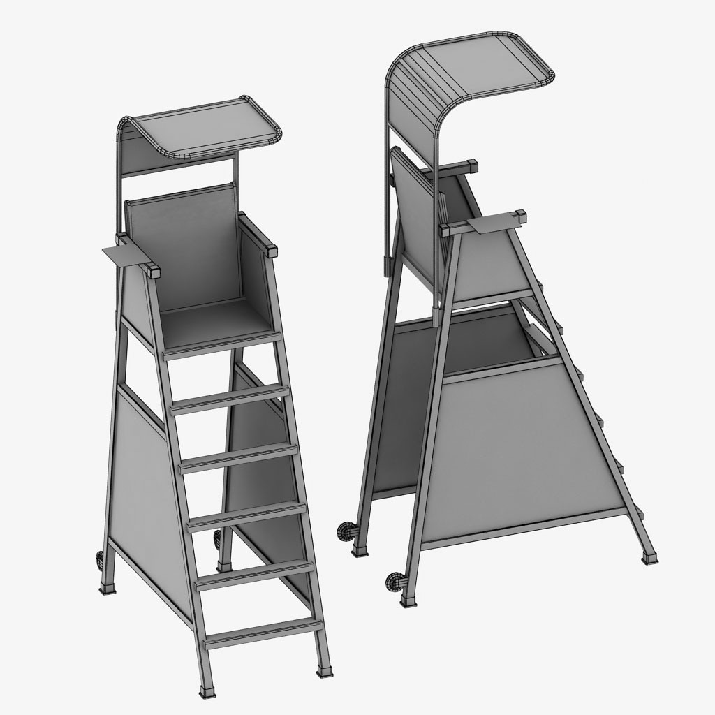 tennis umpire chair hire wooden office chairs on wheels judge by kr3atura 3docean