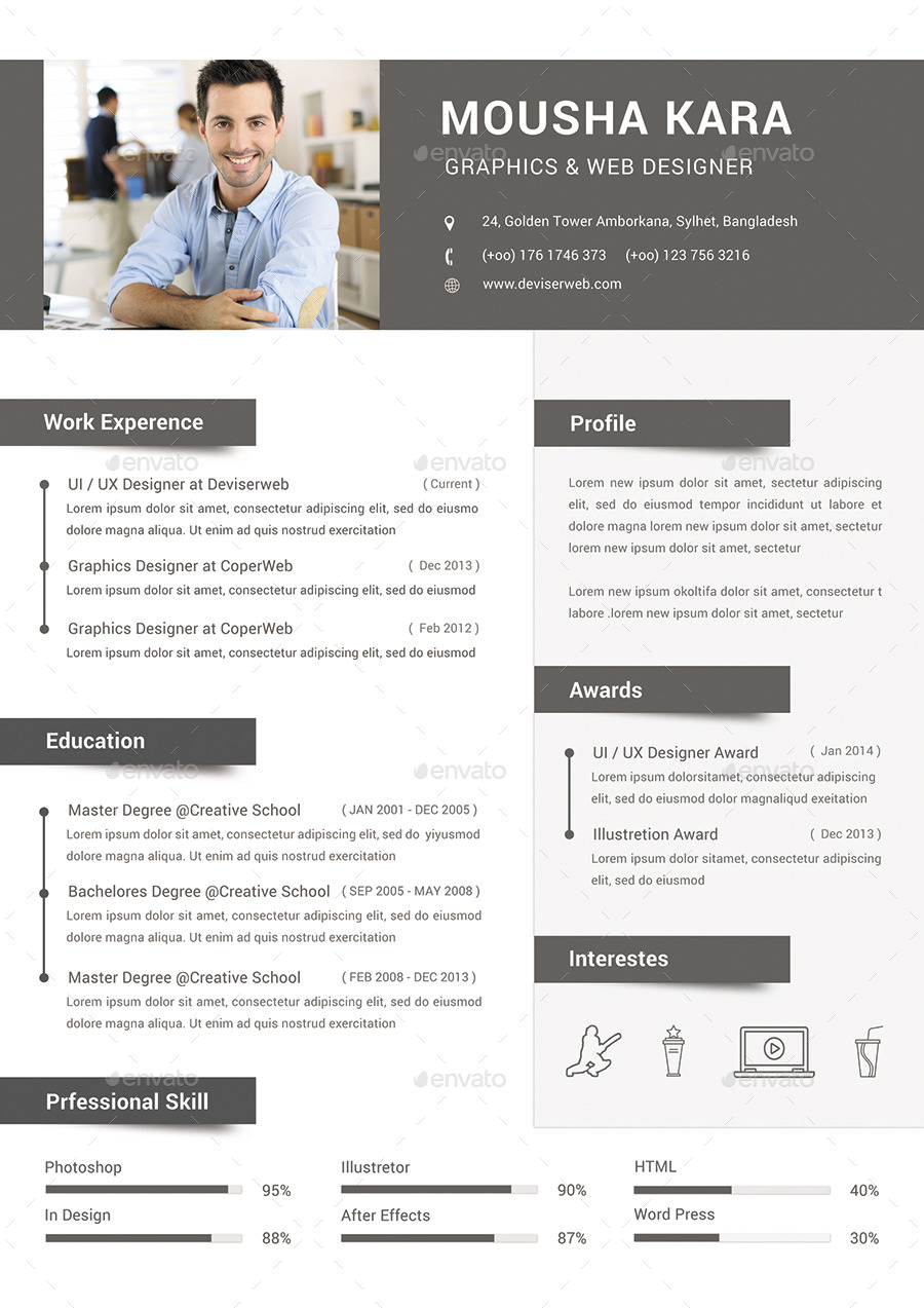 Simple Creative CV Resume & Cover Letter By