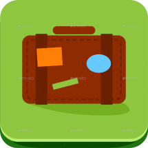 Travel Vacation And Hotel Flat Icons Set Ragerabbit