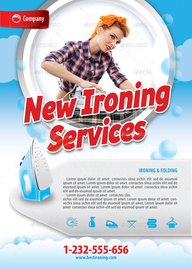 Laundry Services Offer Flyer Template 119 By 21min GraphicRiver