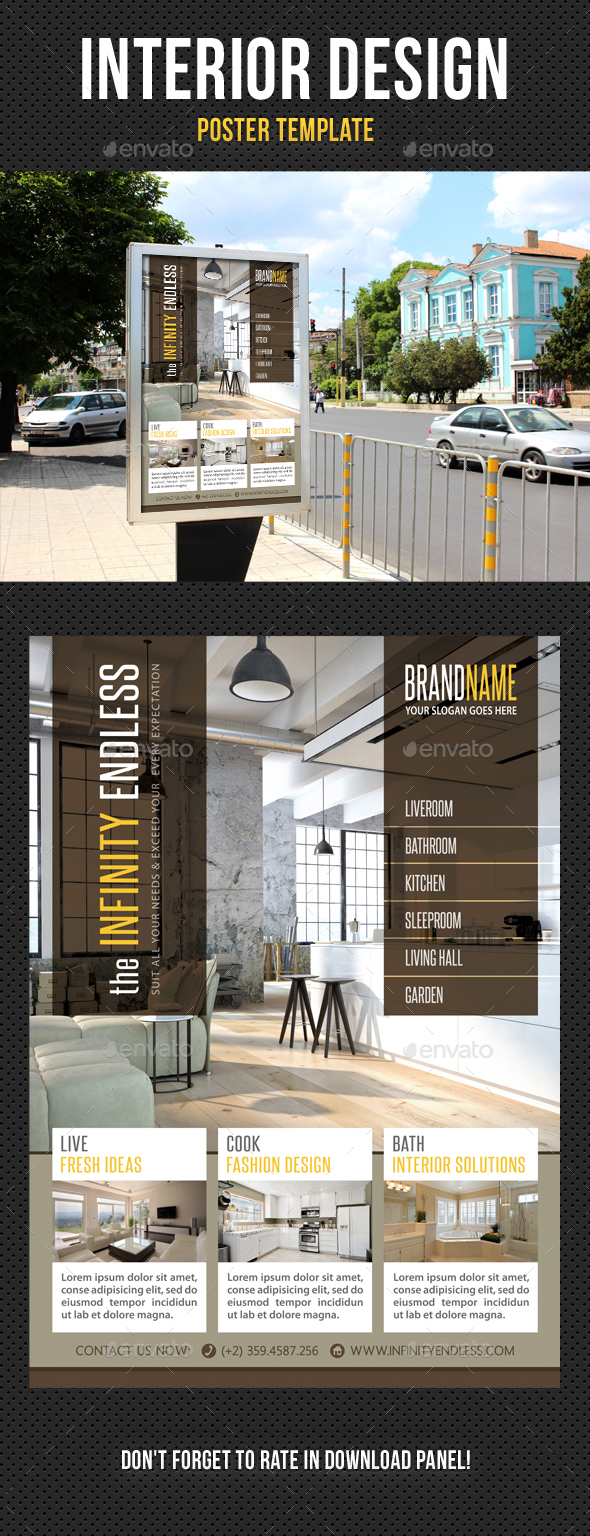 Interior Design Poster Template V07 By Rapidgraf GraphicRiver
