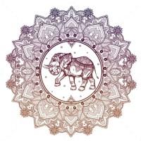 Paisley Mandala With Elephant Inside. by itskatjas ...