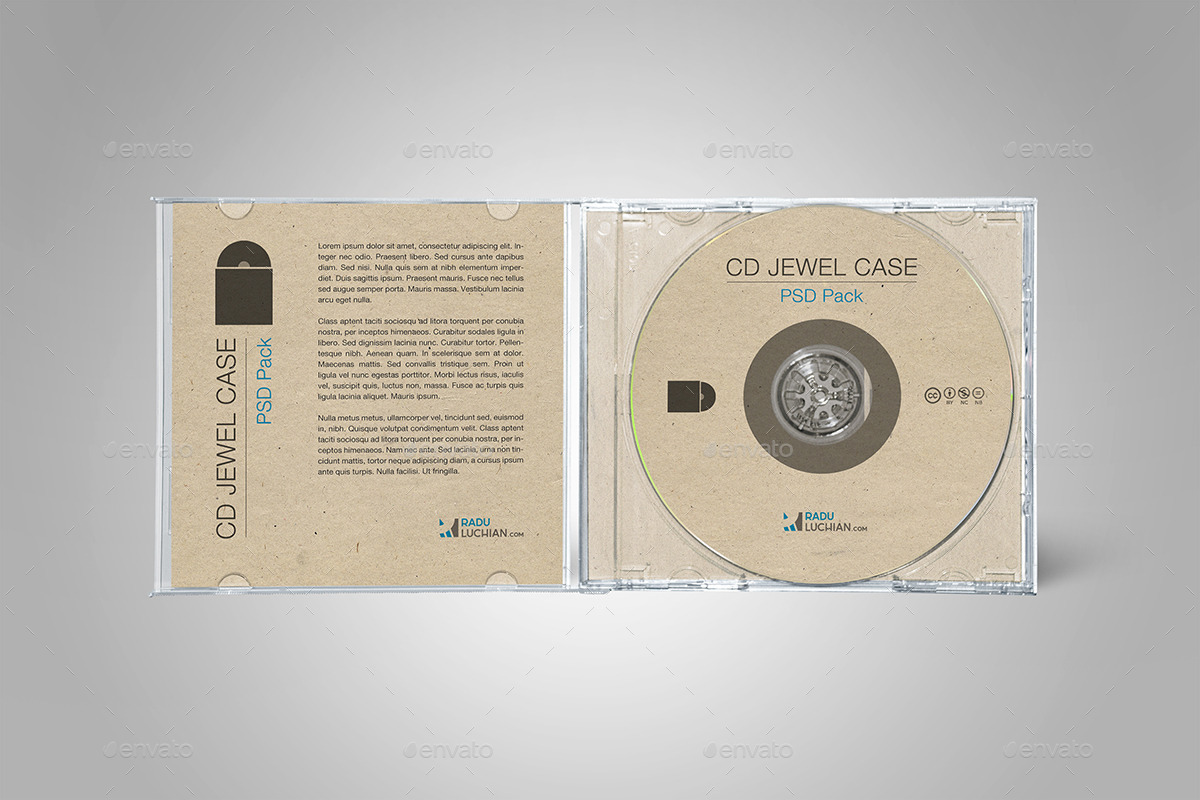 9 Cd Jewel Case Mock Ups By Raduluchian Graphicriver