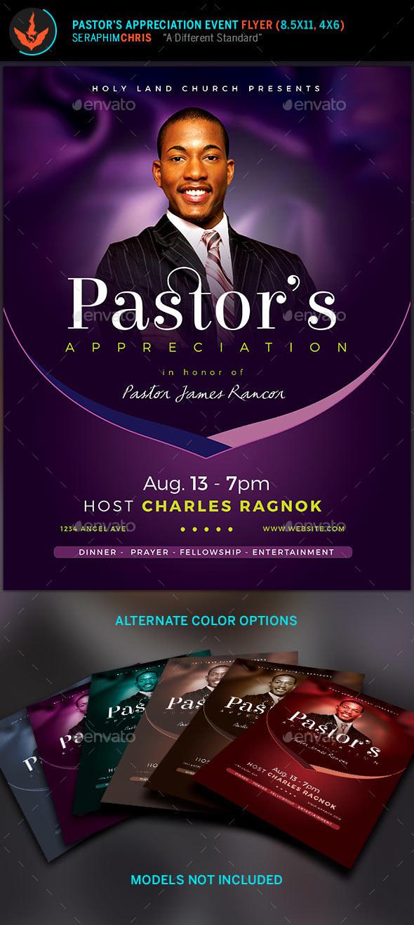 Lavender Pastors Appreciation Church Flyer by