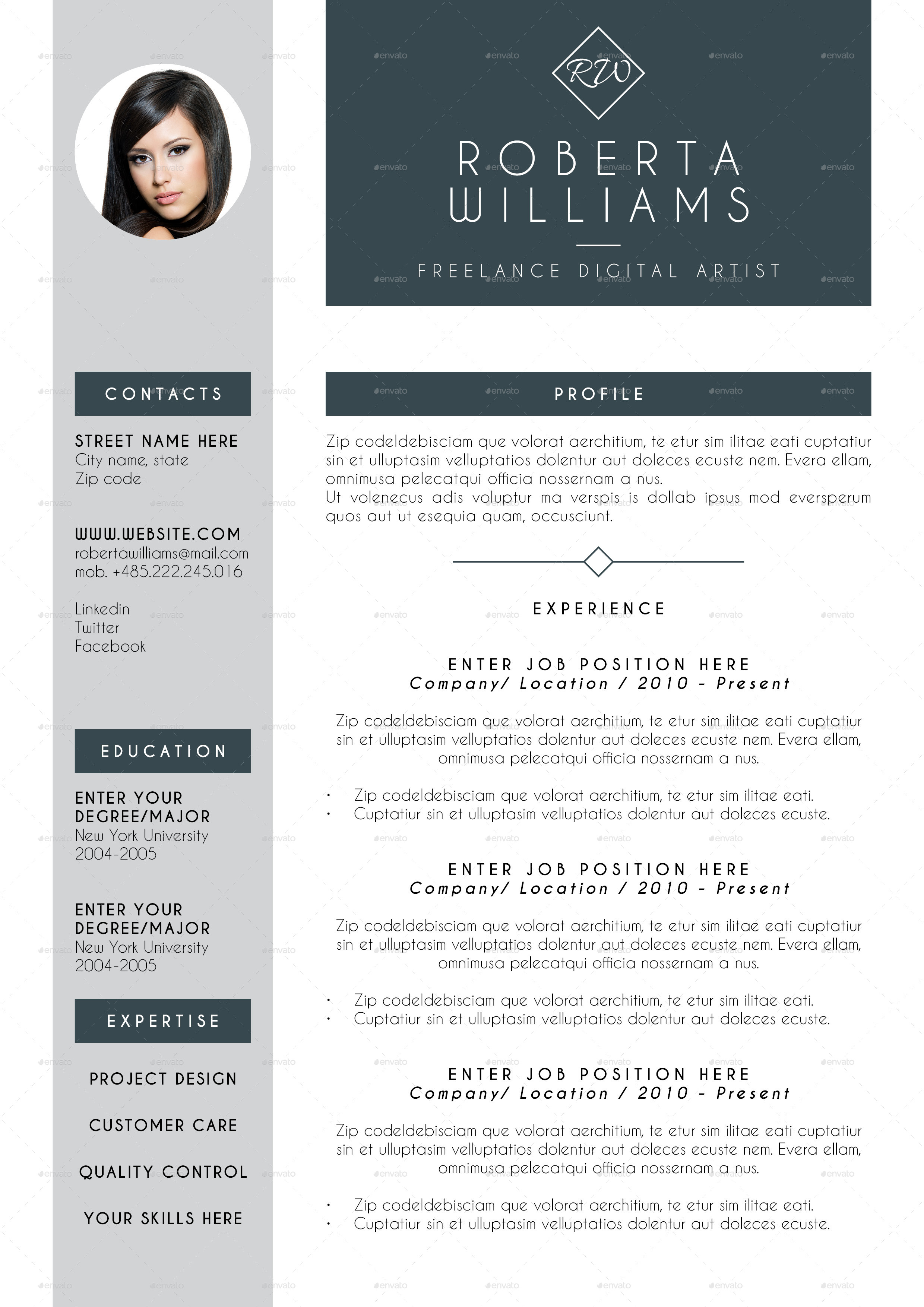 professional resumes template
