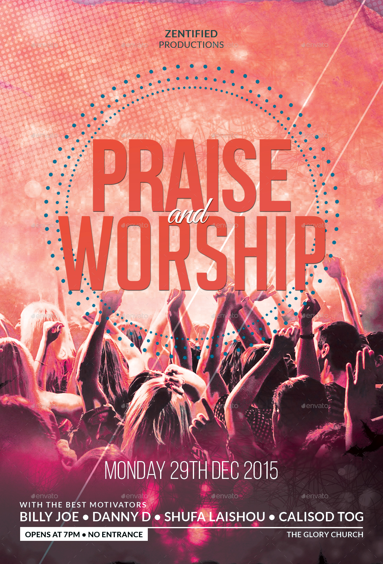 Praise And Worship Flyer by zentify  GraphicRiver