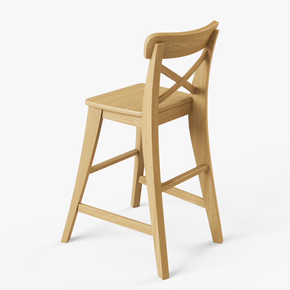 ikea junior chair mid century rocking ingolf by markelos 3docean
