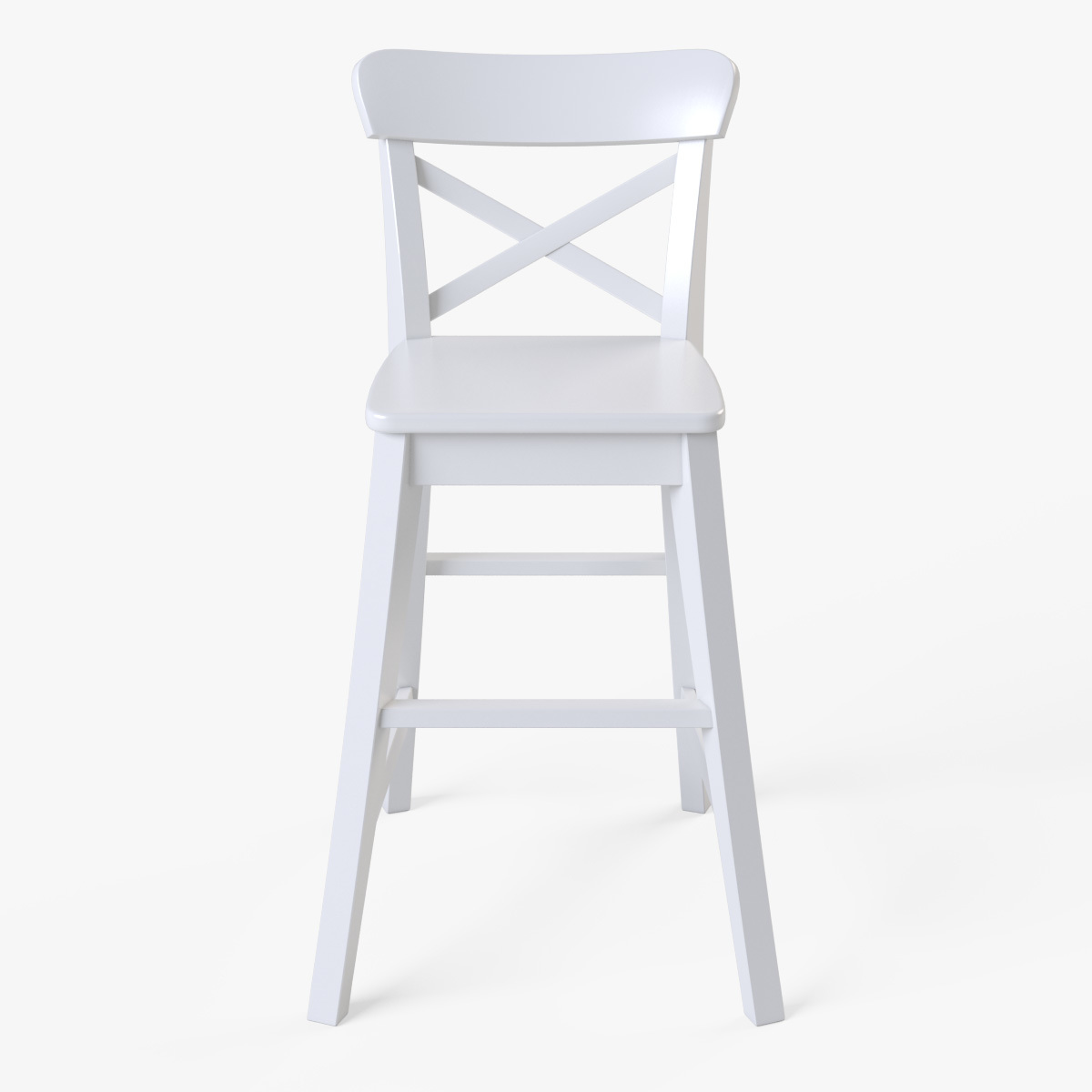 ikea junior chair posture without back ingolf white by markelos 3docean