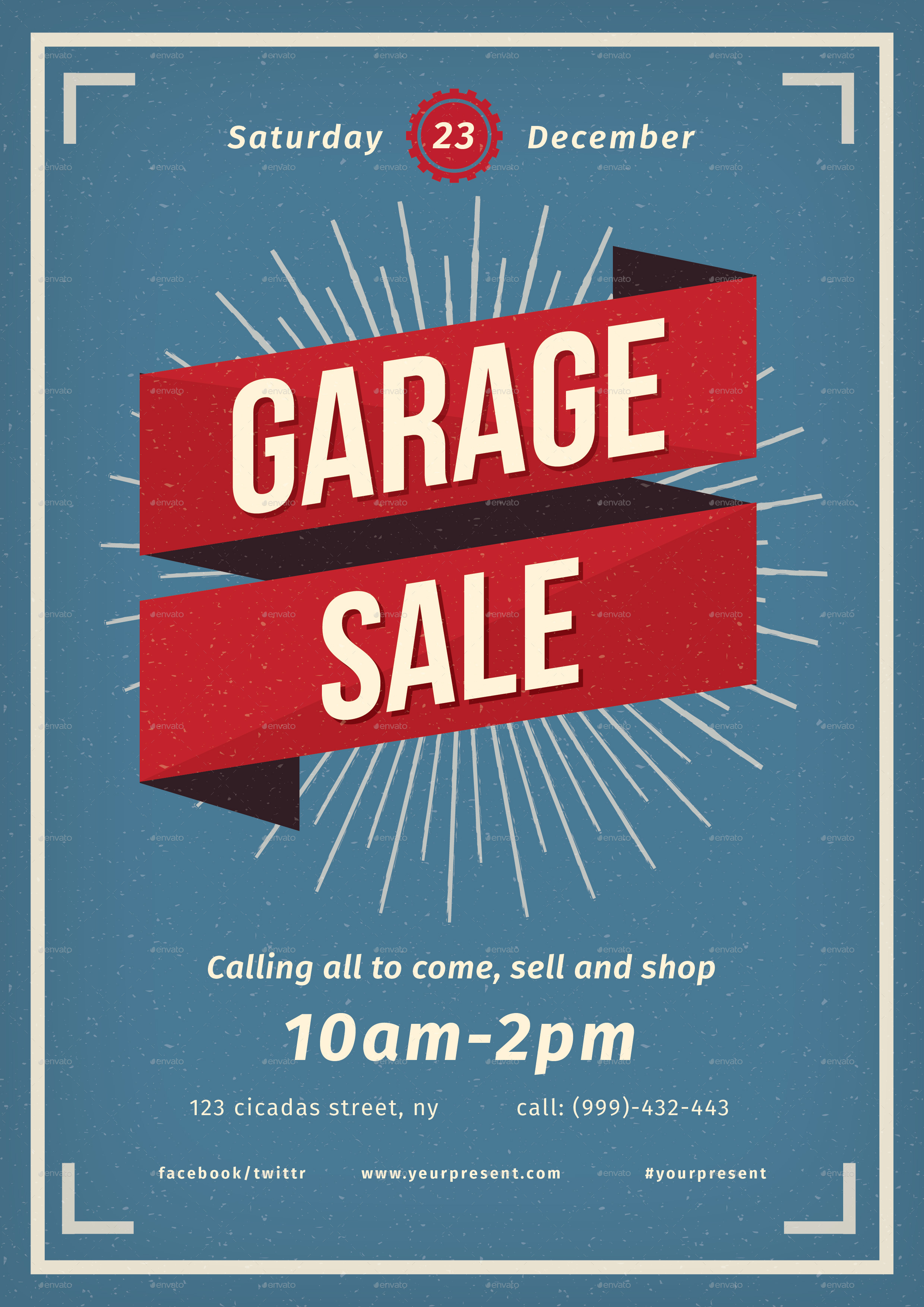 Vintage Garage Sale flyer by lilynthesweetpea  GraphicRiver