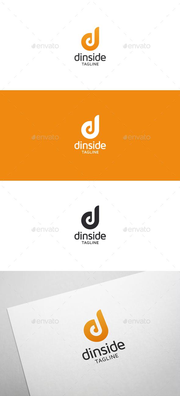 Dinside D Letter Logo By Flatos GraphicRiver