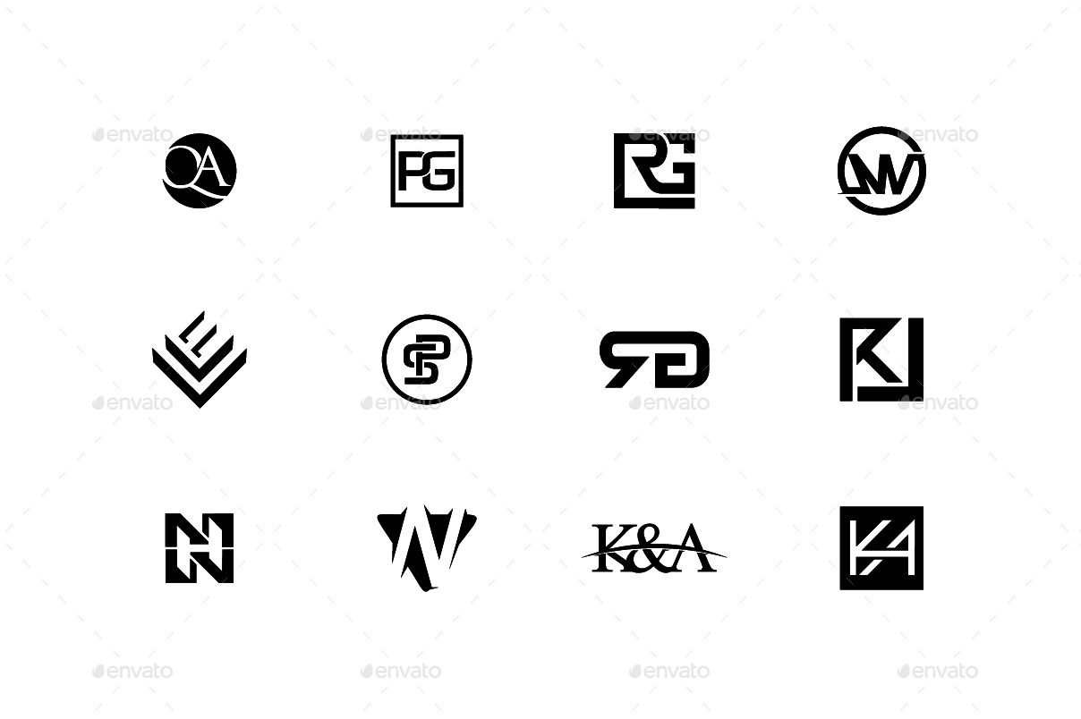 120 simple logo collection