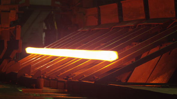 Heavy Industry Machines Processing Melted Burning Hot