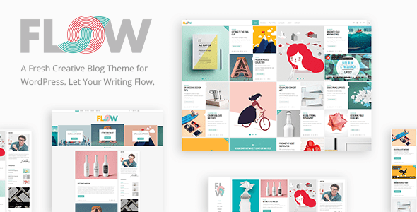 flow creative blog theme